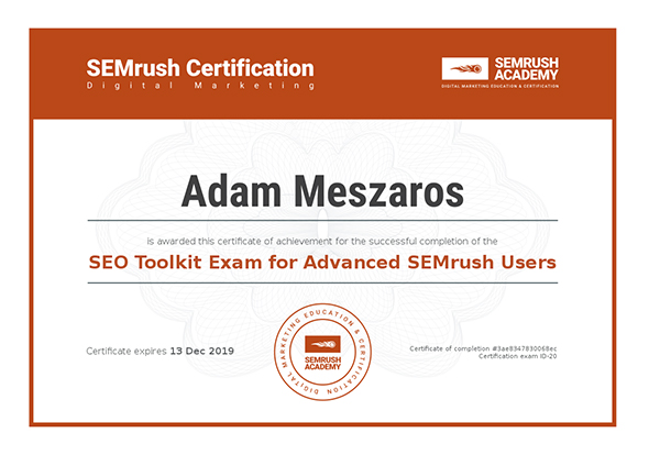 SEO Toolkit Exam for Advanced SEMrush Users