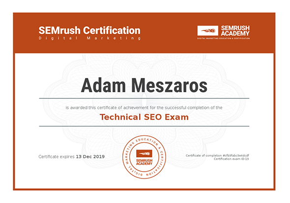 Technical SEO Exam